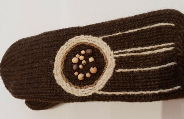 Шерстяные вязанные варяжки