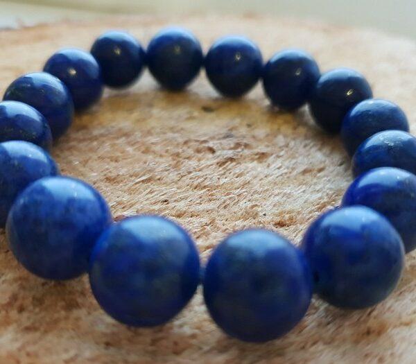 12 mm Браслет из натуральных камней лазурит Удача