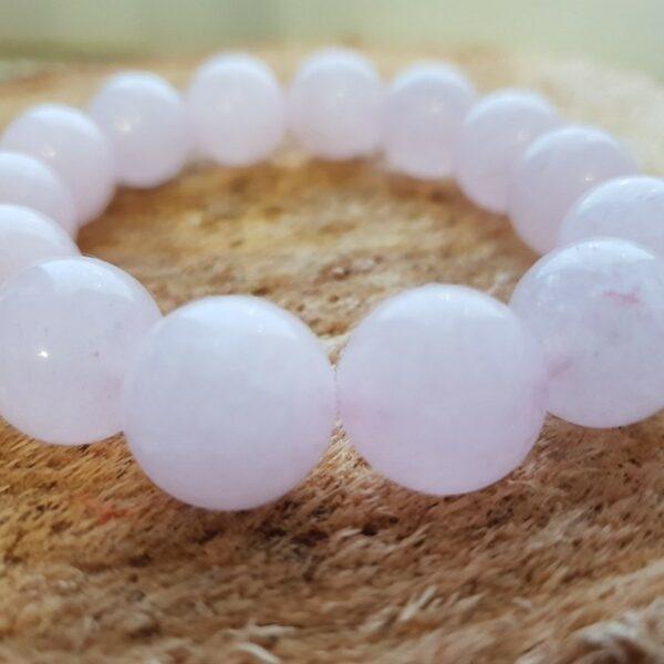 12 mm Браслет из натуральных камней розовый кварц браслет камень любви