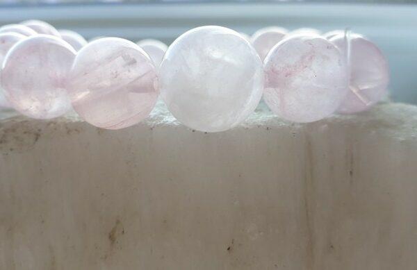 12 -14mm Браслет из натуральных камней розовый кварц браслет камень любви