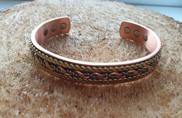 Медный магнитный браслет c мешочком