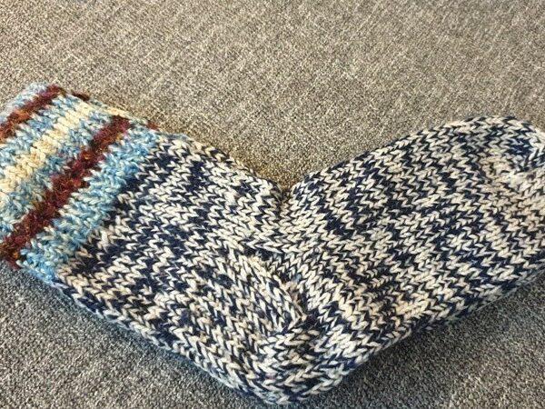 Носки вязанные шерстянные 23cm