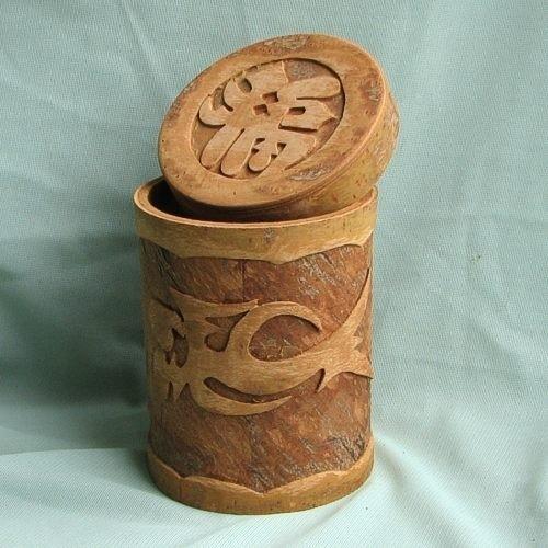 Коробочка из коры коричного дерева  - корица