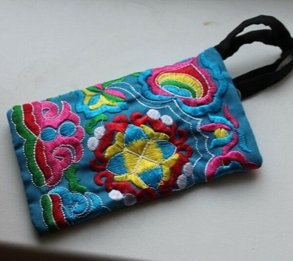 Вышивка  кошелек ручной работы