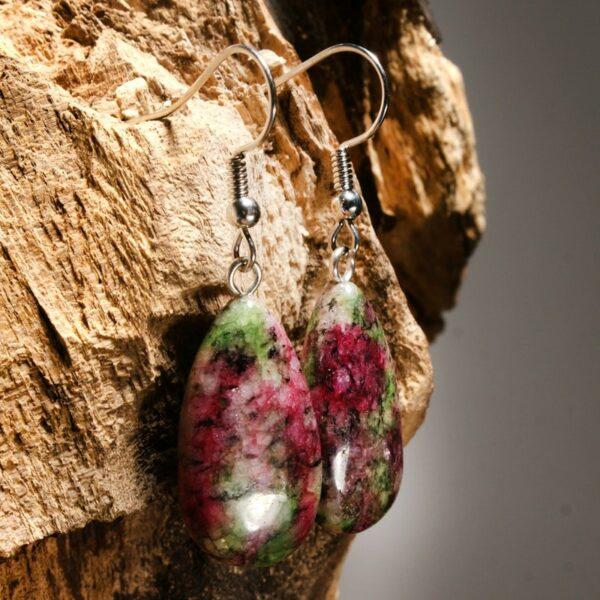 Натуральный камень серьги агат