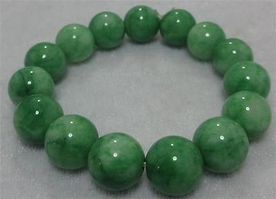 Зеленый нефрит натуральный браслет Стабильность и спокойствие – эти качества нефрита 12 mm