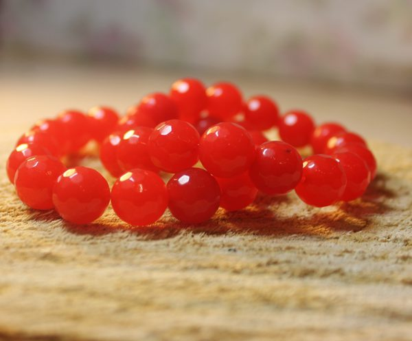 12 mm Браслет из натуральных камней  Камень агат Красный обеспечивает защиту