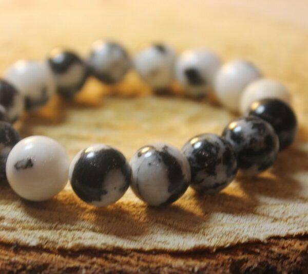 12 mm Камень натуральный агат зебра браслет обеспечивает защиту